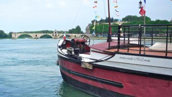 Cruising along the Rhône river